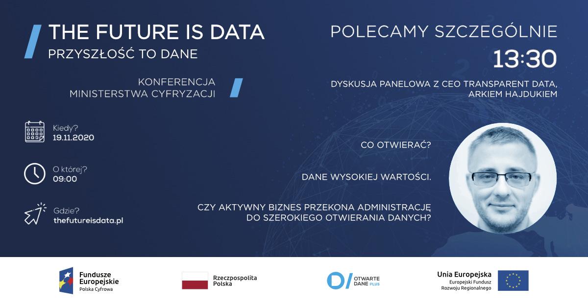 Future is data Przyszłość to dane - konferencja Ministerstwa Cyfryzacji o otwartych danych 2020